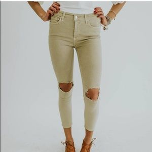 NWT Free People Busted Knees Skinny Fit Jeans
